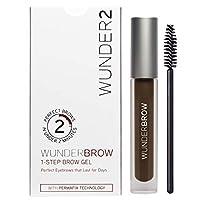 WUNDER2 WUNDERBROW Gel de cejas de larga duración para maquillaje de cejas impermeable, color negro /marrón