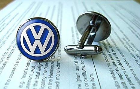 Vw Manschettenknöpfe Volkswagen Manschettenknöpfe Vw Emblem Glas Rund Silberfarben Kunst Bild Schmuck Charmschmuck Hemd Manschettenknöpfe Küche Haushalt