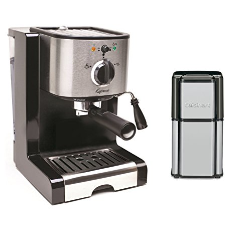 Capresso EC100 Pump Espresso and Cappuccino Machine with Cuisinart Grind Central Coffee Grinder