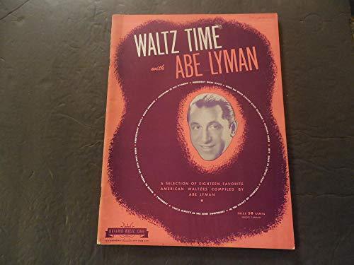 Waltz Time With Abe Lyman Sheet Music Mayfair Music Corp - Music Mayfair