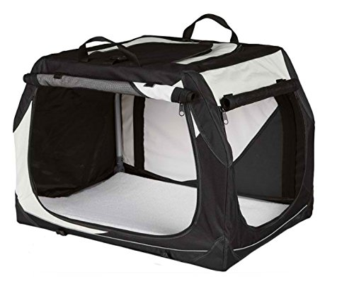 Size M  76 x 48 x 51 cm L x W x H Robust and Flexible Transport Box Foldable Made from Durable Nylon with A Metal Frame for Extra Stability Net Inserts for Optimal Ventilation Ideal for Comfortable Travelling Without Compromises (Size M  76 x 48 x 51 cm L