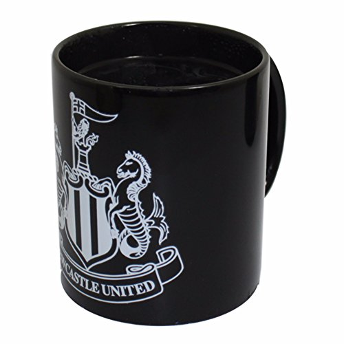 Newcastle United FC Official Heat Changing Crest Design Mug (One Size) (Black)