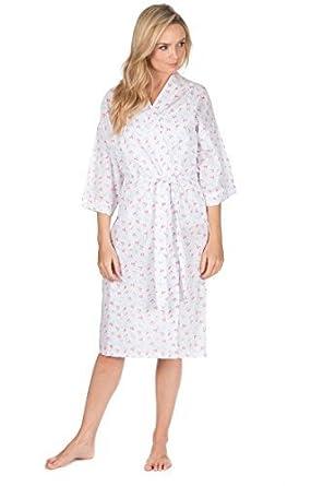 6e2d1f11bdb COTTONIQUE Ladies Nightwear Woven Cotton Polyester Pyjamas Pyjama Summer  Dressing Gown (Small