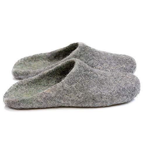 BureBure Ombre Felted Wool Slides Slippers for Men Handmade in Europe