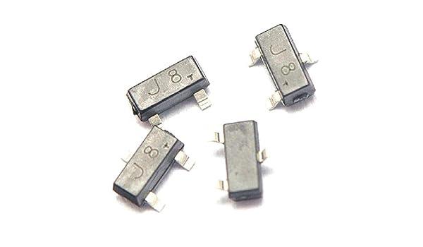 20 pcs General Purpose Transistor S9018 J8 NPN SOT-23 SMD Package DIY Good New