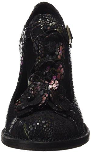 Neosens Noir Femme Floral Floral S868 Black Rococo Verticale Chaussures Fantasy Black Bande avec rzvEnwrqay