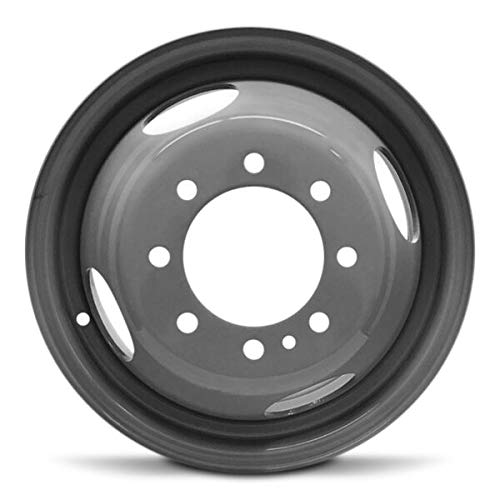Road Ready Car Wheel For 1999-2004 Ford F350SD 16 Inch 8 Lug Gray DRW Dually Steel Rim Fits R16 Tire - Exact OEM Replacement - Full-Size Spare