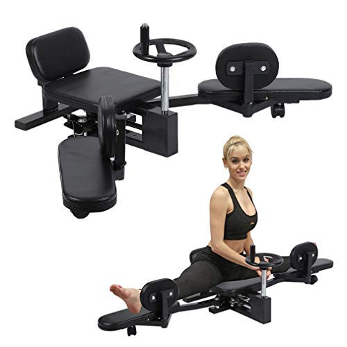 Homgrace Pro Leg Stretch Machine, Heavy Duty Steel Frame Leg Stretcher Training Leg Splitter Gym Gear Fitness Equipment