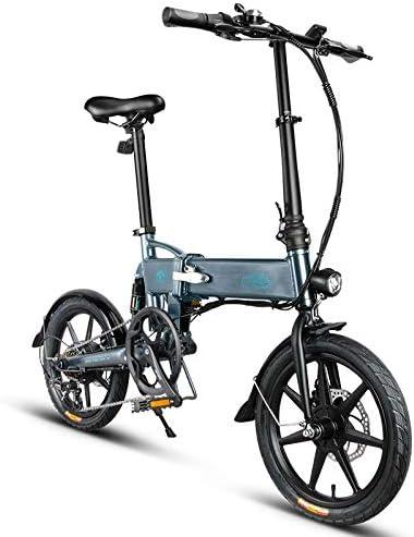 16 Pulgadas Bicicleta Eléctrica de Montaña,250W,36 V 7.8Ah Batería Eliminado/Reemplazado,eBike Amortiguador Plegable con 3 Niveles Ajustables,25km/h,Asiento e Manillar Ajustable para Adultos,Shimano 6