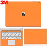 SopiGuard Microsoft Surface Book 2 (15) Carbon Fiber Precision Edge-to-Edge Coverage Easy-to-Apply Vinyl Skin Sticker Wrap (3M Matte Orange)