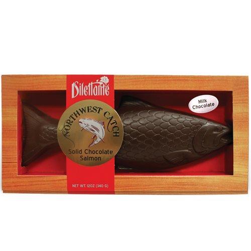 Milk Chocolate Salmon - 12oz, Solid Chocolate Mold