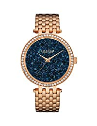CARAVELLE NEW YORK Women's 44L186 Analog Display Quartz Rose Gold Watch