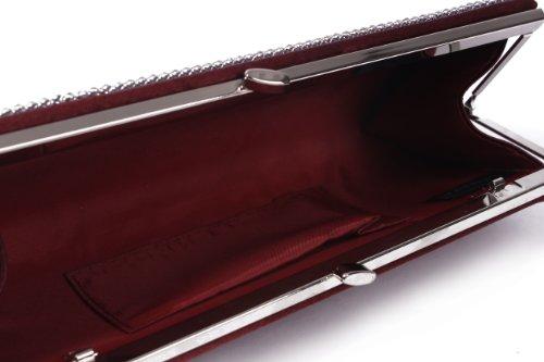 Women's Chic Pleated Clutch Bag Gold Damara Rhinestones Statin Evening qTdxwa5
