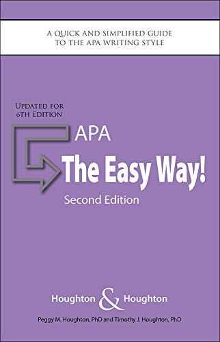 APA: The Easy Way!: Updated for the APA 6th Edition (Best Job Sites For College Grads)