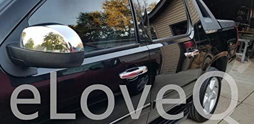07-14 Chevrolet Avalanche//Suburban//Tahoe//GMC Sierra//Yukon/&Yukon XL//Cadillac Escalade eLoveQ Chrome 4 Door Handle Covers w//o Passenger Key Hole Compatible with 07-13 Chevrolet Silverado