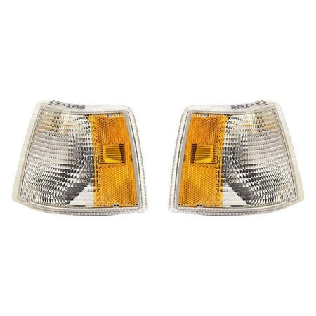 Fits Volvo 850 1993-1997 Parking Side Marker Light Unit Pair Driver and Passenger Side Dual Headlight VO2550101, VO2551101