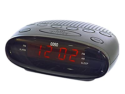 GOSO Digital Alarm Clock Radio with LED Display and Sleep, Snooze Functions by GOSO Direct
