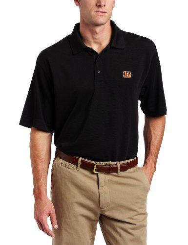 NFL Cincinnati Bengals Men's DryTec Championship Polo, Black, Small (Championship Polo Mens Drytec)