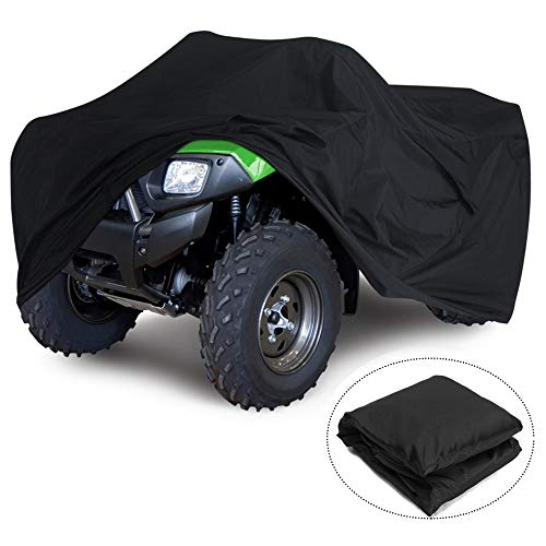 VVHOOY 210D ATV Cover Waterproof Heavy Duty Rain Cover,4 Wheeler Quad Cover All Weather Protection Compatible with Honda Rancher/Polaris/Yamaha/Suzuki (86x38x42in,XXL)