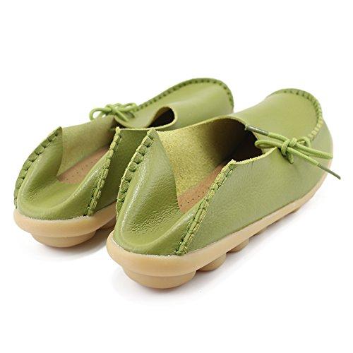 iFang - Sandalias con cuña mujer Grassgreen