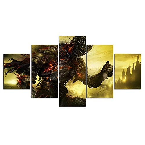 - Dark souls game print poster canvas decoration 5 pieces