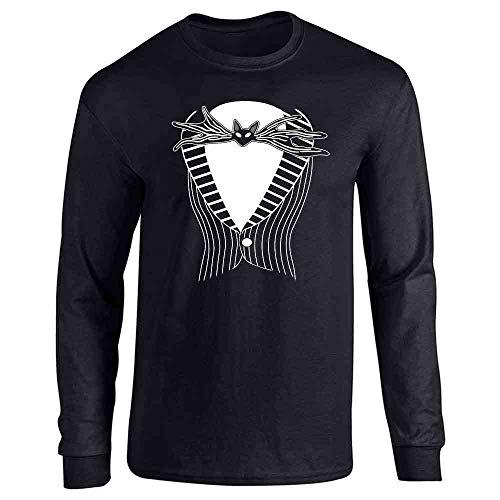 Jack The Pumpkin King Tuxedo Halloween Costume Black L Long Sleeve T-Shirt