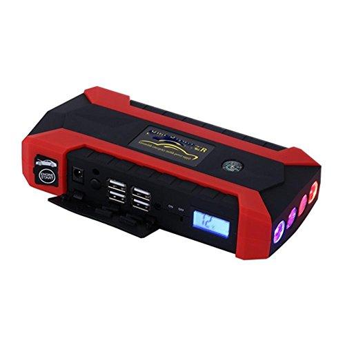 QXXZ Car Jump Starter 20000Mah Booster Emergency Power Source Emergency  Auto Start Power & Ultra-Bright LED Flash Light for SOS & High Capacity  Power