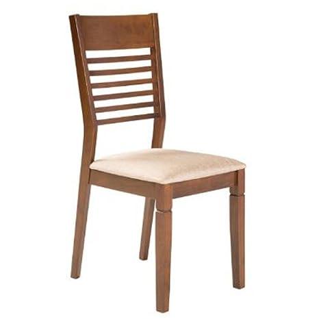 Varie Sedia classica in legno per cucina, sedie noce in tessuto per ...