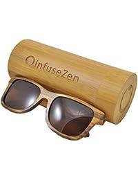Zebra Wood Sunglasses, Wooden Sun Glasses for Men &...