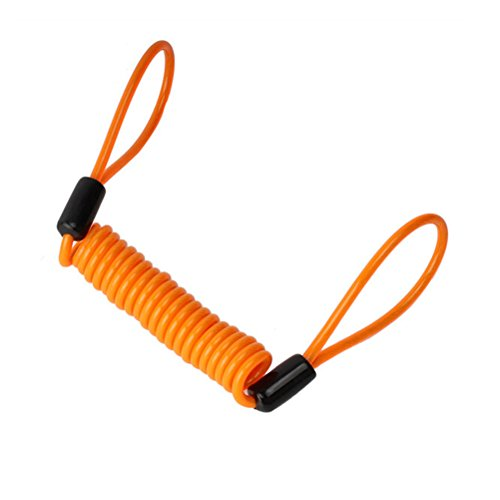 1.2M Bicycle Motorbike Disc Lock Cable Wire (Orange) - 1