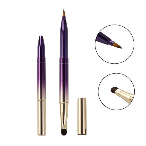 Professional Lip Brush Applicators Dual End Retractable Design Lipstick Brush Makeup Brush For Women and Girls (Gradient 2)