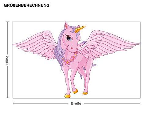 Klebefieber Wandsticker Einhorn mit Flügel B x H  120cm 120cm 120cm x 72cm e8e81a