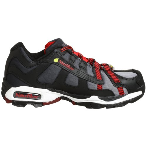 Nautilus 1317 ESD No Exposed Metal Safety Toe Athletic Shoe,Black/Silver/Red,11.5 W