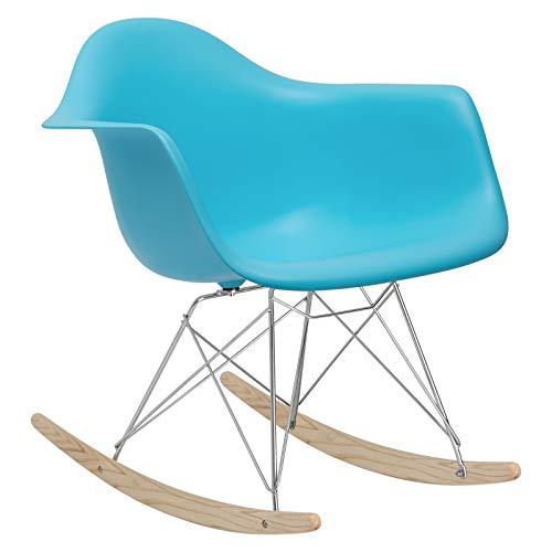Poly and Bark Rocker Lounge Chair, Aqua (Yellow Ghost Chair)