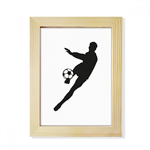 DIYthinker Sports Football Soccer Silhouette Desktop Wooden Photo Frame Picture Art Painting 6x8 inch by DIYthinker