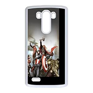 Avengers Characters Illustration LG G3 Cell Phone Case White NiceGift pjz0035095833