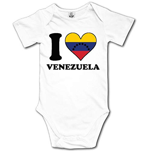 Heart Venezuela Flag Love - I Love Heart Venezuela Flag Newborn Baby Outfit Creeper Onesies Short Sleeves Bodysuits
