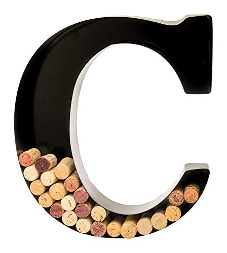 (Wine Cork Holder - Metal Monogram Letter (C))