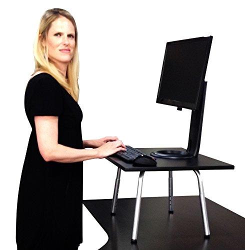Stand Steady Desks Stehpult, verwandelt den Schreibtisch in einen Stehtisch, höhenverstellbar (schwarz)