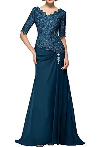 Spitze Partykleider Blau Promkleider Herrlich Ballkleider Abendkleider mia Neu Beige Dunkel La Langarm Brautmutterkleider Braut nxqIzAwZ