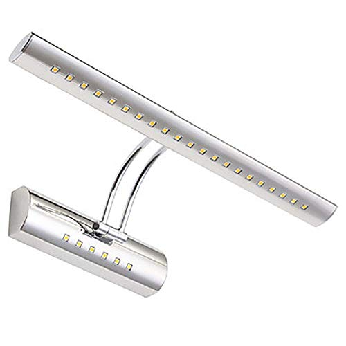 Zzyff Villa Modern Stainless Steel Long Strip LED Wall Lamp Bathroom Mirror -