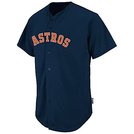 3f2bba7f6 Amazon.com   Houston Astros CUSTOM or BLANK BACK Full Button Major League  Baseball Cool-Base Replica MLB Jersey   Clothing