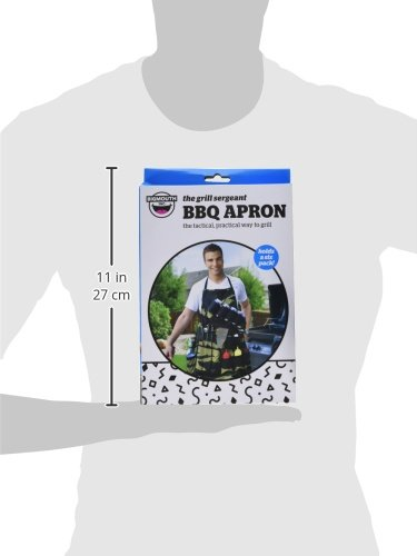 BigMouth Inc The Grill Sergeant BBQ Apron, Cotton Camouflage Gag Gift for Cookouts, Adjustable Strap, Pockets and Bottle Opener Included by BigMouth Inc (Image #5)