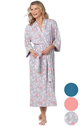 (Addison Meadow Bathrobes for Women - Long Robes for Women, Gray, Medium / 8-10)