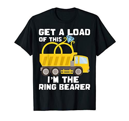 Ring Bearer Shirt Funny Wedding Truck Boys Gift Idea Tee -
