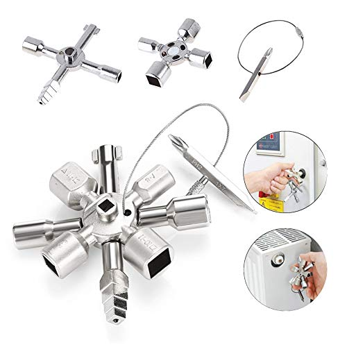 10 in 1 Universal Twin Key Control Cabinet Key Torque Key Home Lock Tool USA