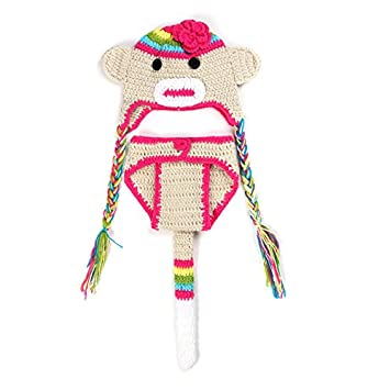 2d8b2d76574 ArMordy(TM) Monkey Crochet Baby Photography Props Hand Made Knitting  Newborn Crochet Outfits Baby