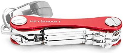 KeySmart ClassicLlavero compacto y organizador de llaveros hasta 14 llaves rojo