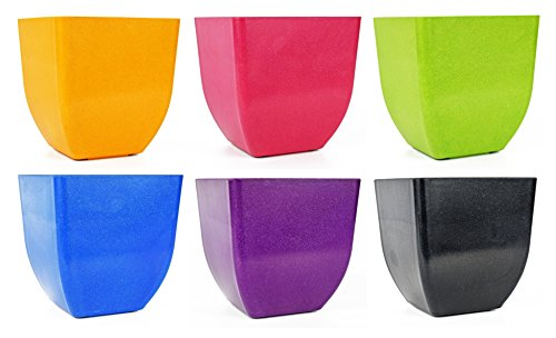 - Set of 6 Multicolored Tapered Square 5