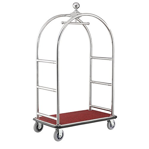 Silver Stainless Steel Bellman Cart Curved Uprights 6